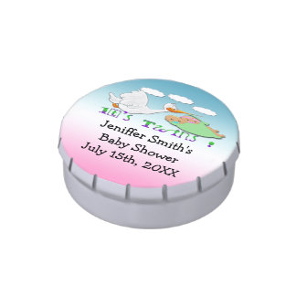 Boy & Girl Twins 2 - Stork Baby Shower Candy Tins