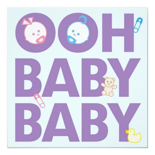 Boy & Girl Twins Baby Shower Card