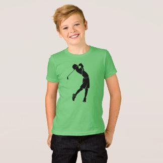 Boy Golfer Silhouette T-Shirt