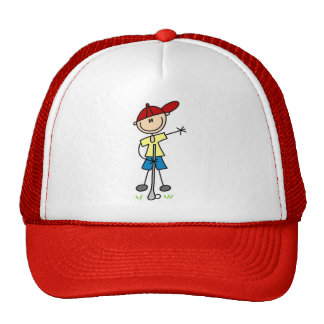 Boy Golfer Tshirts and Gifts Mesh Hats