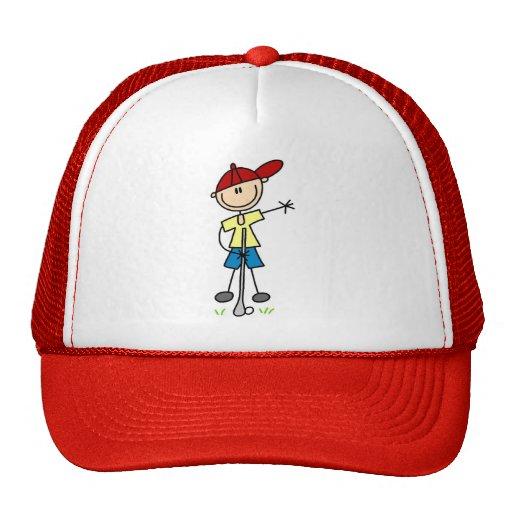 Boy Golfer Tshirts and Gifts Mesh Hats