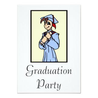 Boy Graduating 13 Cm X 18 Cm Invitation Card