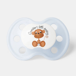 Boy Grandma's Little Monkey Baby Pacifier