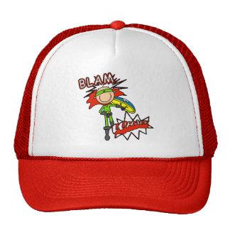 Boy Hero with Shield Trucker Hats