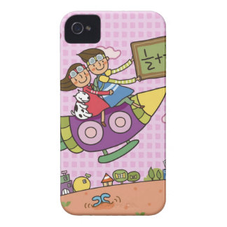 Boy holding a blackboard sitting with a girl on iPhone 4 covers