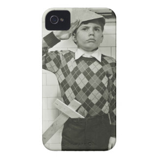 Boy Holding a Wooden Sword iPhone 4 Case-Mate Case