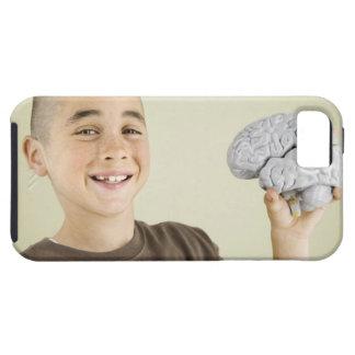 Boy holding human brain model tough iPhone 5 case