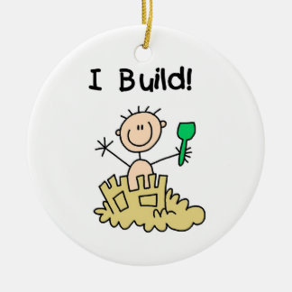 Boy I Build Christmas Ornament