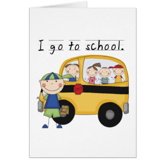 Boy I Go To School T-shirts and Gifts Greeting Card