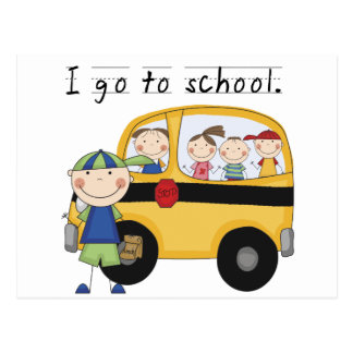 Boy I Go To School T-shirts and Gifts Post Card