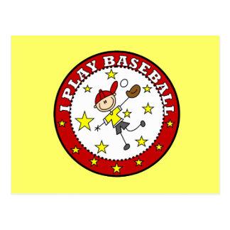Boy I Play Baseball T-shirts and Gifts Post Card