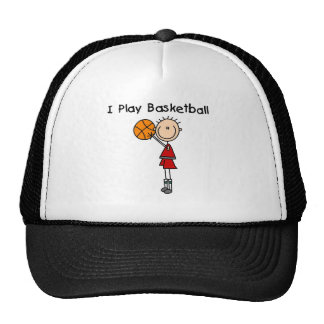 Boy I Play Basketball Cap
