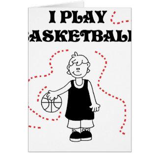 Boy I Play Basketball Greeting Card