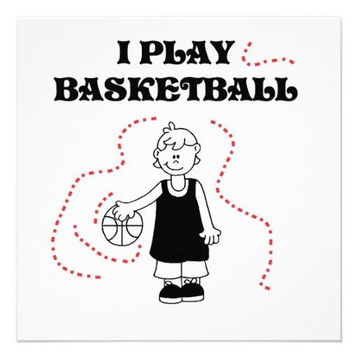 Boy I Play Basketball T-shirts and Gifts Personalized Invitation
