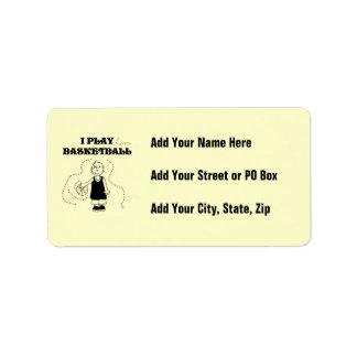 Boy I Play Basketball T-shirts and Gifts Address Label