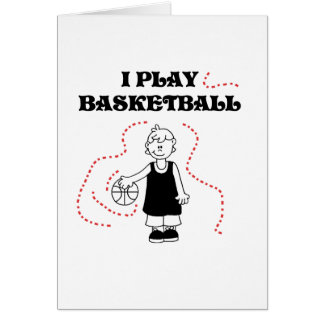 Boy I Play Basketball T-shirts and Gifts Note Card