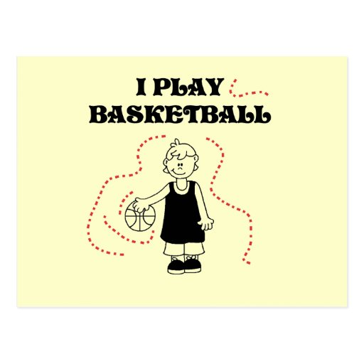 Boy I Play Basketball T-shirts and Gifts Post Cards
