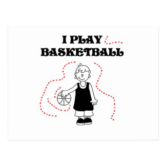 Boy I Play Basketball T-shirts and Gifts Postcard