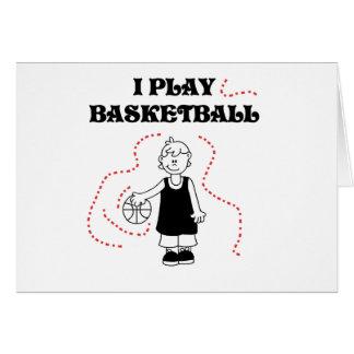 Boy I Play Basketball Tshirts and Gifts Greeting Card