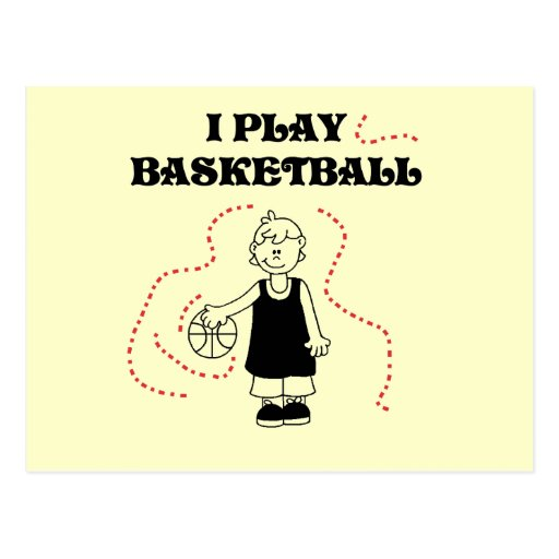 Boy I Play Basketball Tshirts and Gifts Post Card
