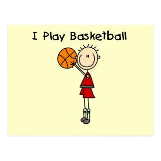 Boy I Play Basketball Tshirts and Gifts Postcard