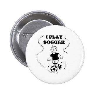 Boy I Play Soccer 6 Cm Round Badge