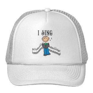 Boy I Sing Stick Figure Hat