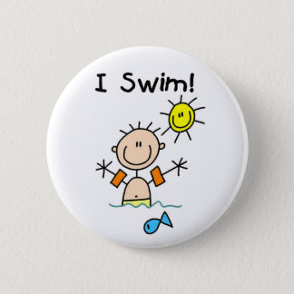 Boy I Swim Button