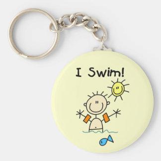 Boy I Swim T-shirts and Gifts Basic Round Button Key Ring
