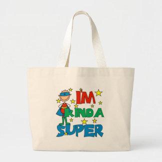 Boy I'm Kinda Super Large Tote Bag