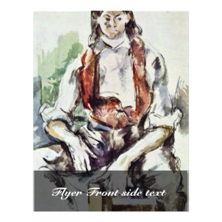Boy In A Red Vest.,  By Paul Cézanne (Best Quality Flyer