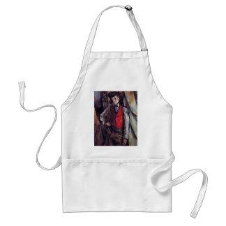 Boy In A Red Waistcoat By Paul Cézanne Apron