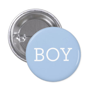 Boy in Blue | Baby Gender Reveal Party Buttons