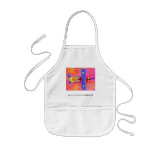 Boy in His Airplane Kids Apron