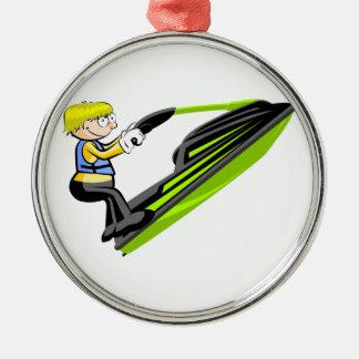 Boy in jey ski christmas ornament