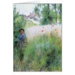 Boy in Meadow - Sommerbilder Card