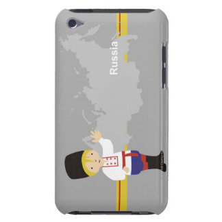 Boy in traditional Russian clothing in front of Case-Mate iPod Touch Case