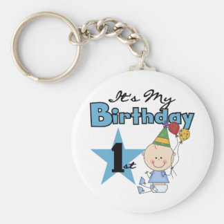 Boy It's My Birthday Tshirts and Gifts Basic Round Button Key Ring
