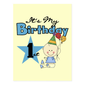 Boy It's My Birthday Tshirts and Gifts Postcard