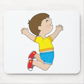 Boy Jumping Mouse Pads
