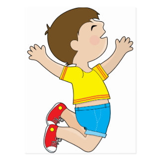 Boy Jumping Postcard
