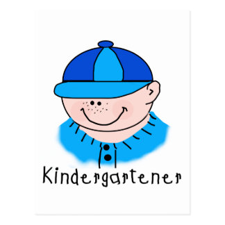 Boy Kindergartener Tshirts and Gifts Postcard