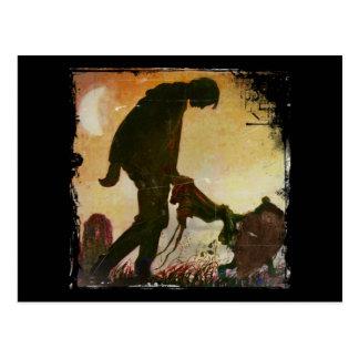 Boy Led By Gnome Postcard