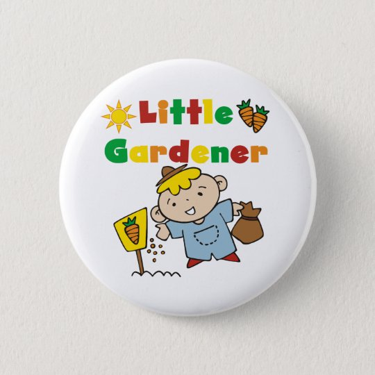 Boy Little Gardener 6 Cm Round Badge
