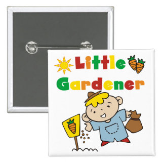 Boy Little Gardener Tshirts and Gifts 15 Cm Square Badge