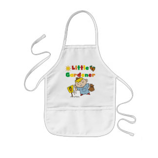 Boy Little Gardener Tshirts and Gifts Kids Apron