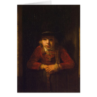 Boy Looking through the Window, c.1647 Greeting Card