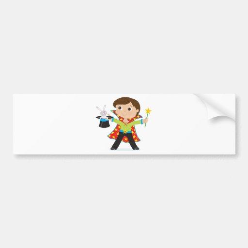Boy Magician Bumper Sticker