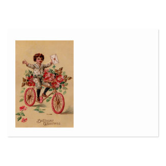 Boy Mail Pink Flower Bicycle Birthday Pack Of Chubby Business Cards