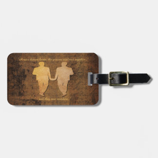 Boy Meets Boy Grooms Gay Wedding Gift Luggage Tag